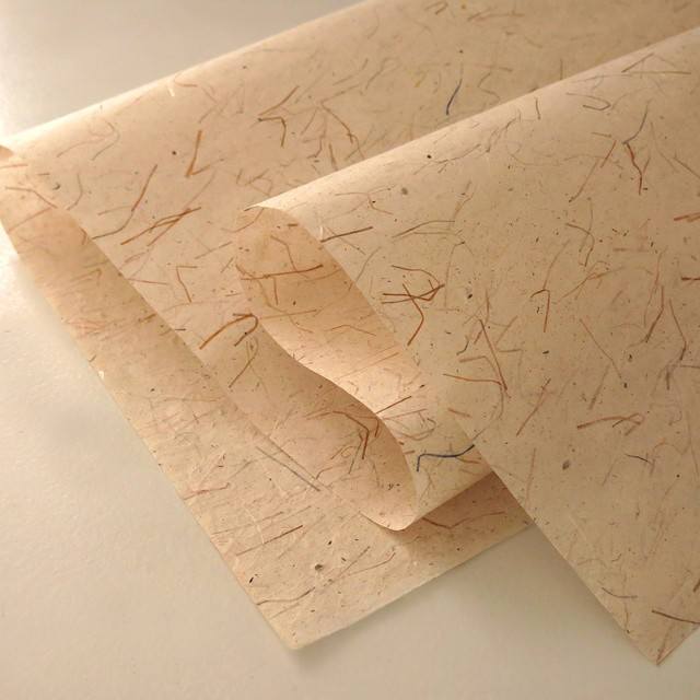 PP16 繊維糸入和紙