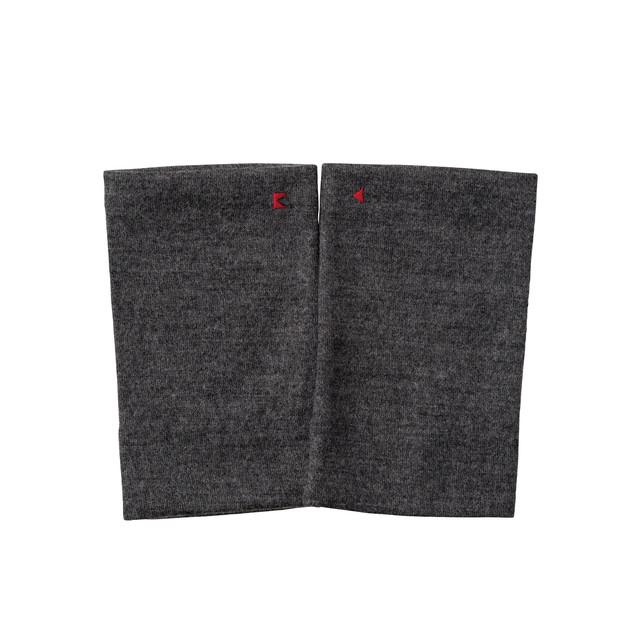 【リストマフラー】223 杢グレー/ウール100%/手首の冷え取り/差し色に