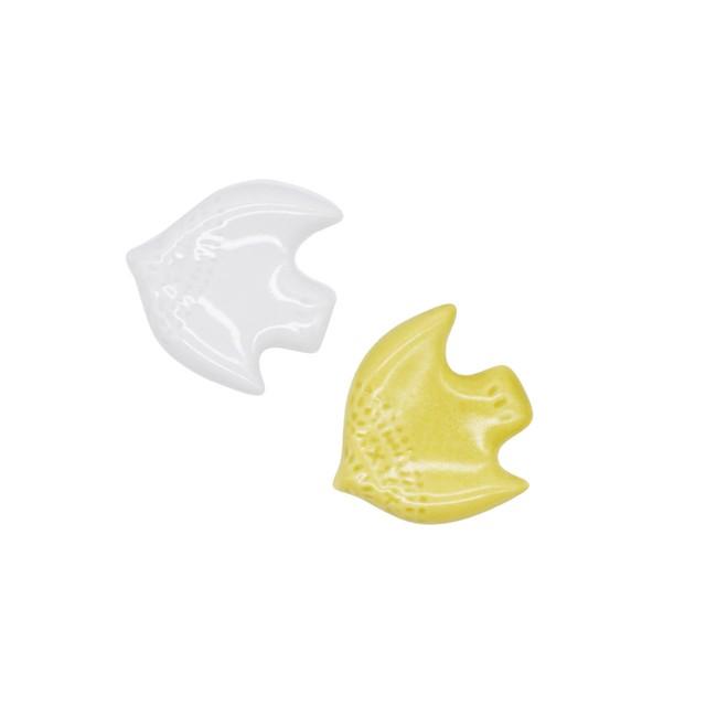 【限定1点 アウトレット品】波佐見焼 箸置 セット とり 白&緑 253363 豆豆市104
