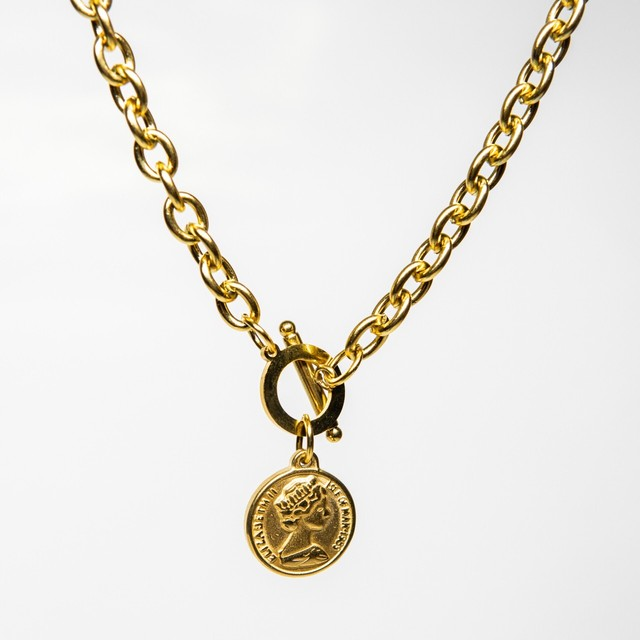 316L Coin pendant necklace 【GOLD】