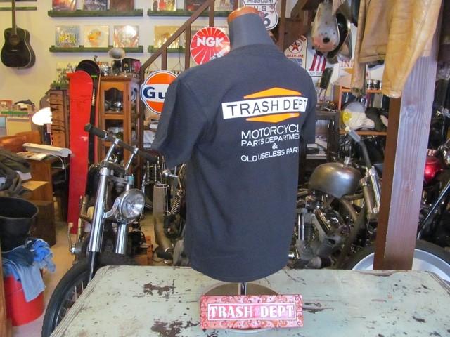 TRASH DEPT オリジナルTシャツ タイプA ブラック Ladies & Youth サイズ