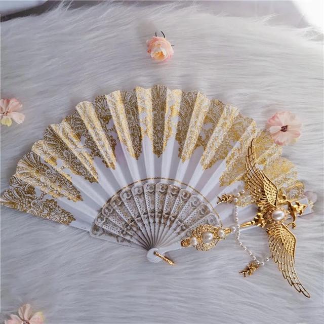 *送料無料*ロリータビンテージ天使の羽扇子 ロリータ小物