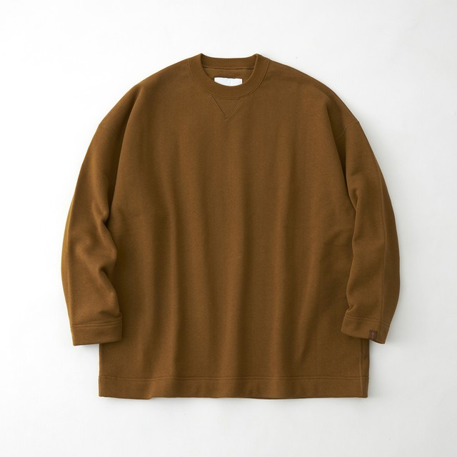 LOOPWHEELER × WM CREW SWEAT - BROWN