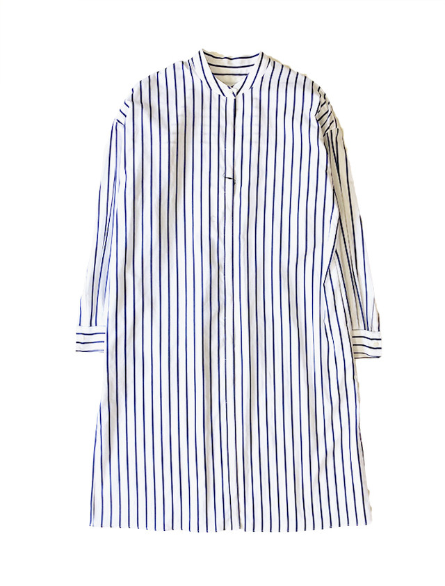 Stripe long shirt / C+
