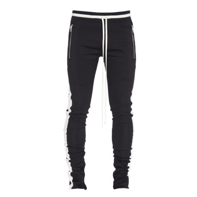 FEAR OF GOD TRACK PANT BLACK CREAM STRIPE