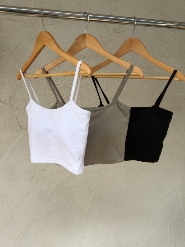 Cap-in Short Camisole《WHT/KHA/BLK》20383023