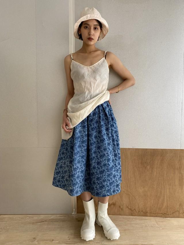 """Tuck Skirt """"Indigo dyed"""""""