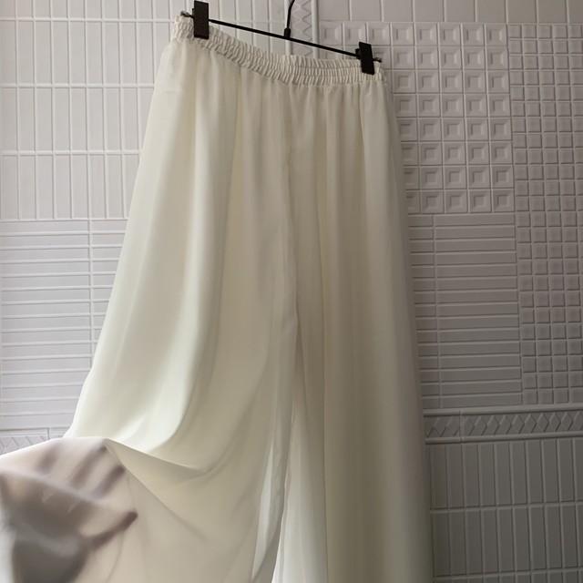 vintage sheer wide pants