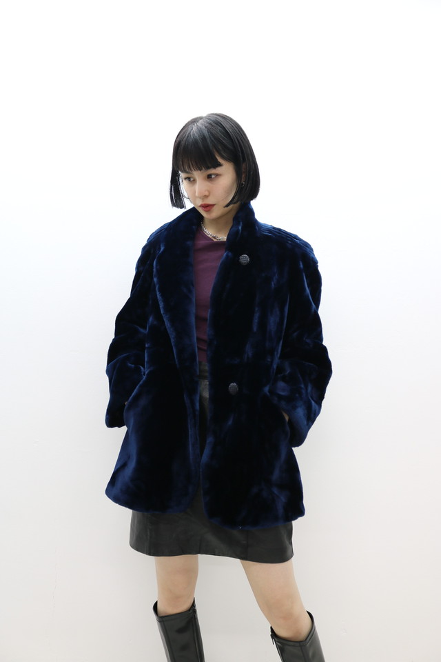 fake fur jacket / OU11290108