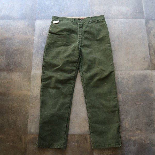 khaki side zip design pants