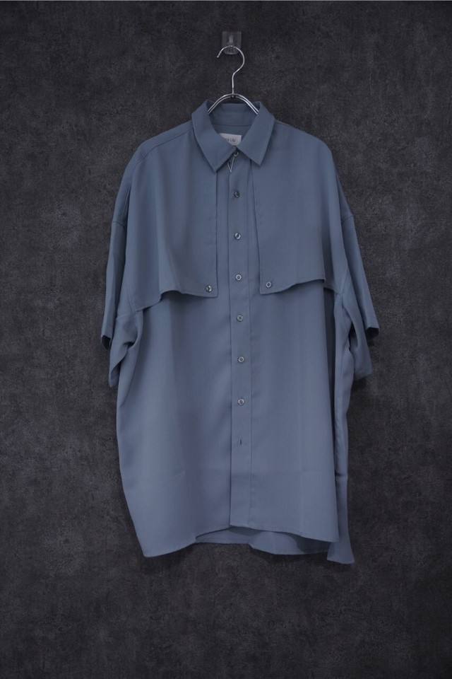 Nora Lily Flap S/S Shirt -Blue