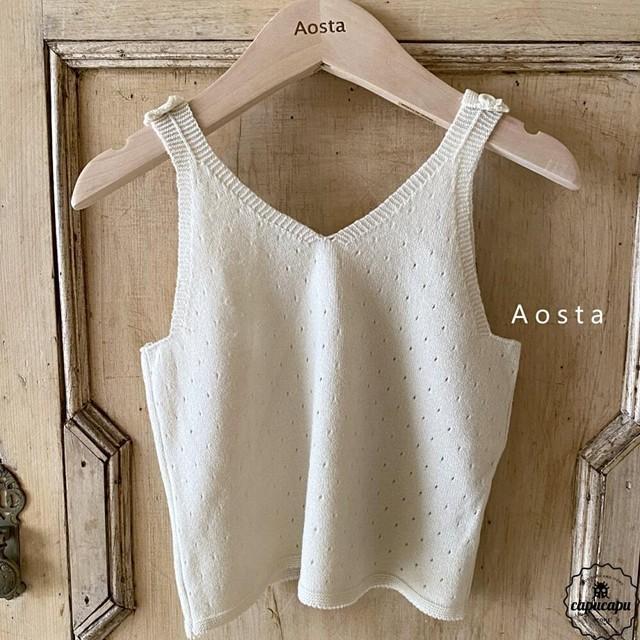 «予約» Aosta de mone knit top 3colors サマーニットノースリーブ