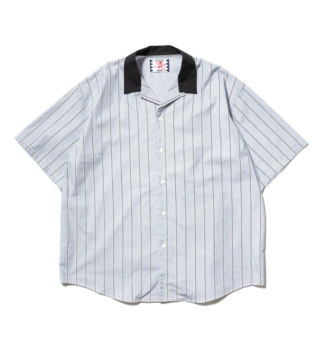 【SON OF THE CHEESE】Stripe Cleric Shirt