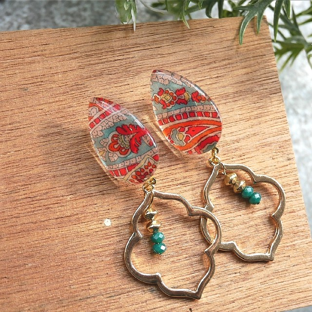 """ Earrings NO.0-1934″モロッカン リバティエスニック"