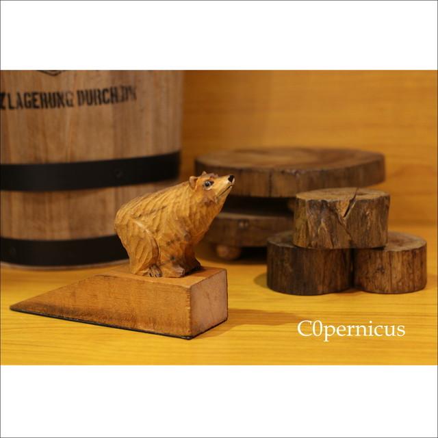 ドアストッパー/クマ/ウッド/浜松雑貨屋 C0pernicus