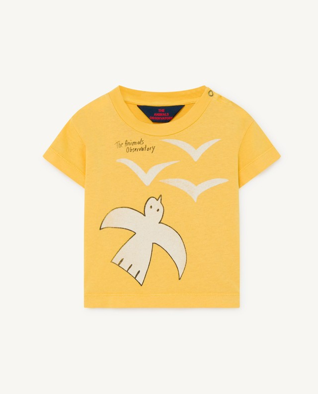 The Animals Observatory ROOSTER BABY T-SHIRT yellow