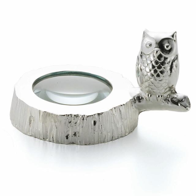 ルーペ・フクロウ(銀メッキ) 品番745