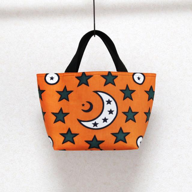 月と星のランチトート|アフリカ布 / ランチバッグ