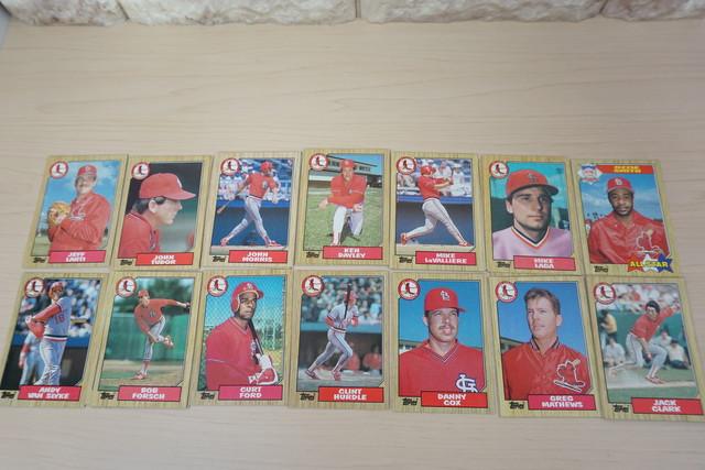 1986年セントルイスカージナルスのベースボールカードいっぱい!