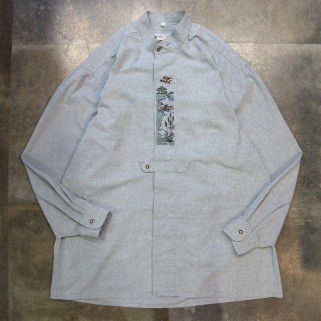 Tyrolean embroidery design shirt