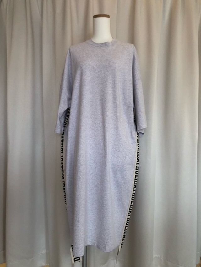 HOLIDAY-SUPPER FINE DRY S/S LONG DRESS(TAPE)