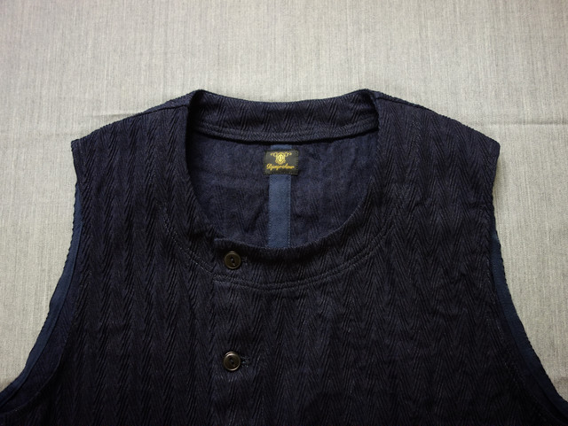 da frenchwork indigo vest
