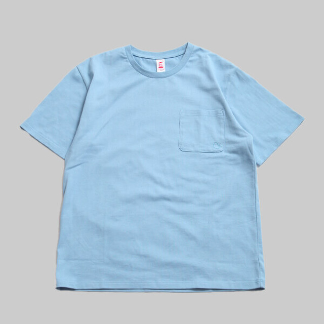 CC BASIC HEART POCKET T-SHIRT-R.BLUE