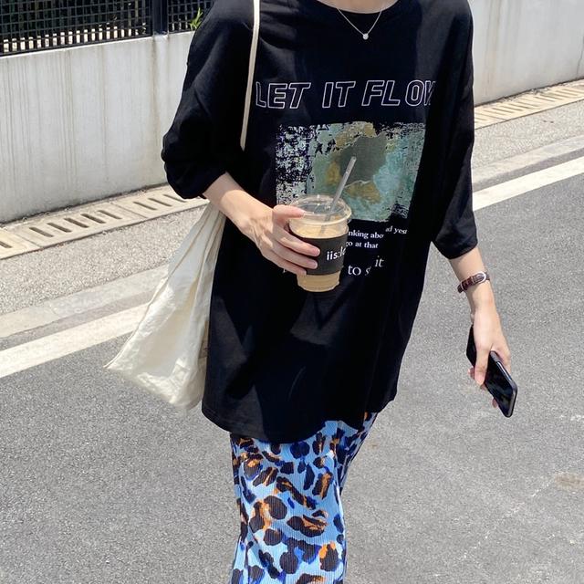 【Tシャツ】オーバーサイズロゴT(black)PRM01