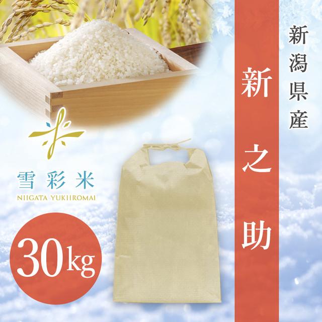 【雪彩米】新潟県産 令和2年産 新之助 30kg