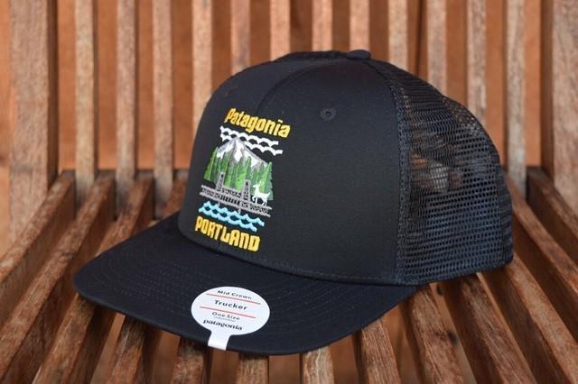 新品 日本未発売 ポートランド限定 パタゴニア トラッカーハット patagonia ブラック PORTLAND