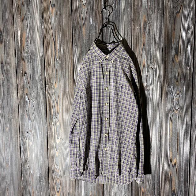 [Ralph Lauren]rare color check shirt