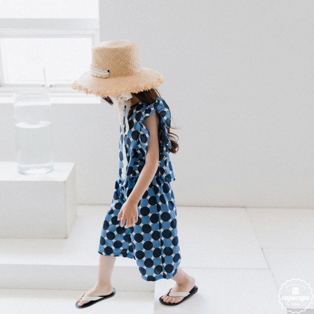 «sold out»«ジュニアサイズあり» dot frill set up 水玉フリルセットアップ