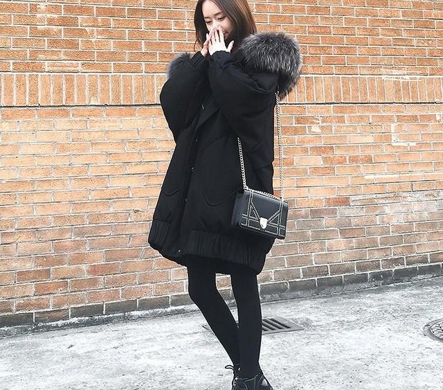 【大きいサイズ】【韓国レディースファッション】 5908 あったか ボリューム ファー コート シンプル アウター 送料無料