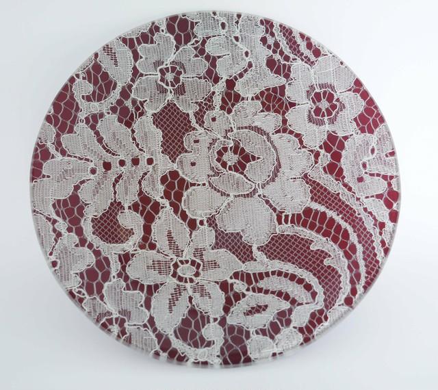 ガラストレー #82412 あずき(15cm丸皿)