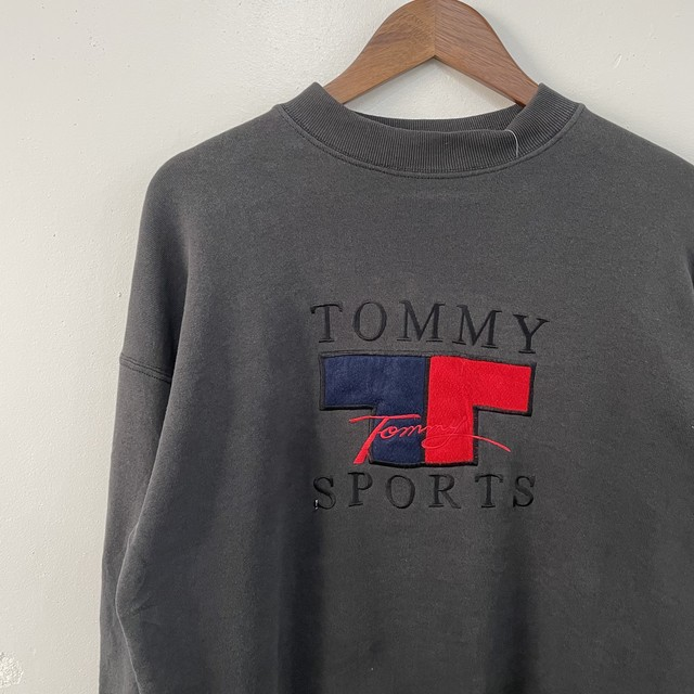 90's tommy hilfiger 刺繍スウェット
