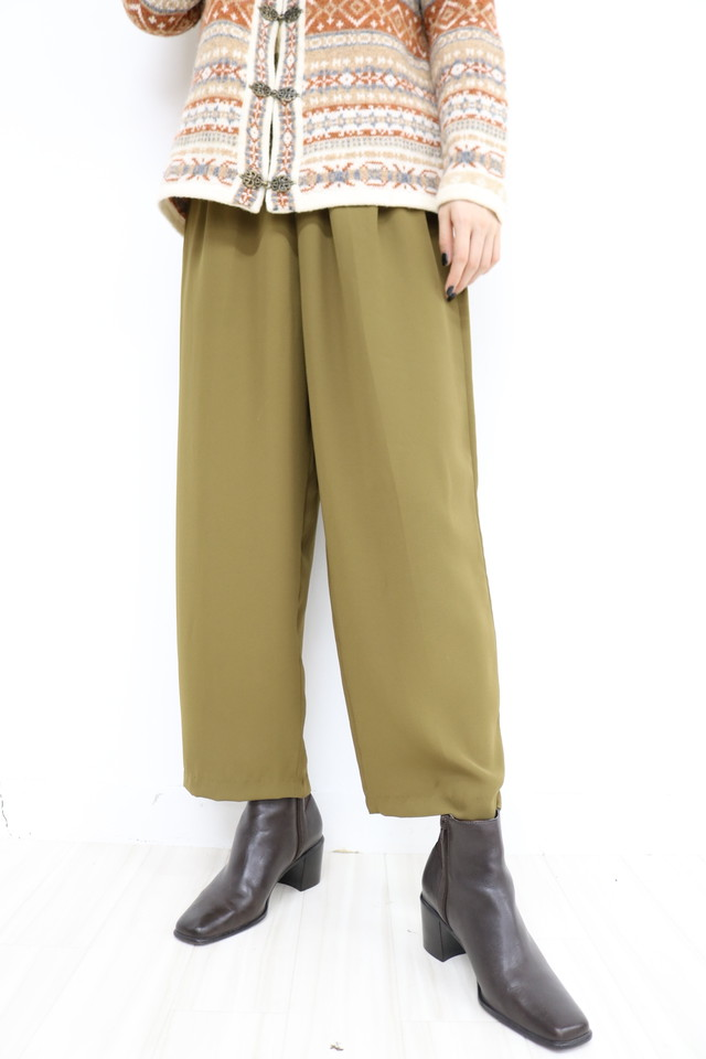 see-through wide pants / PT11180007