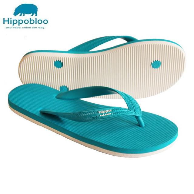 【Hippo Bloo】ビーチサンダル(スカイブルー/オフホワイト×スカイブルー)