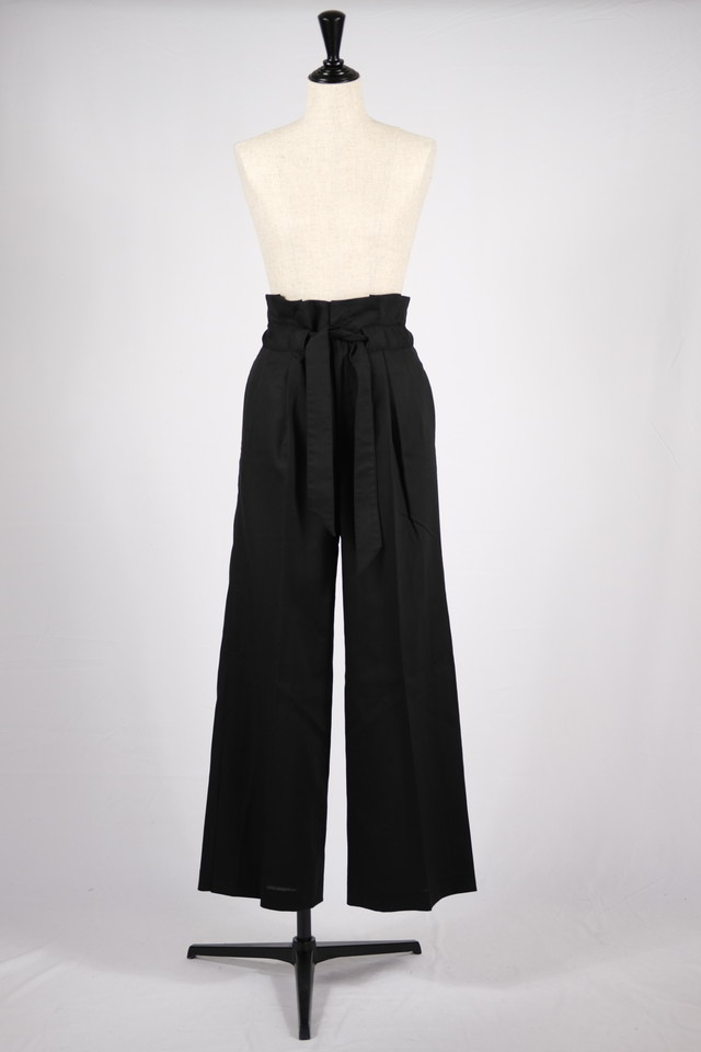 【EBONY】gather pants - black