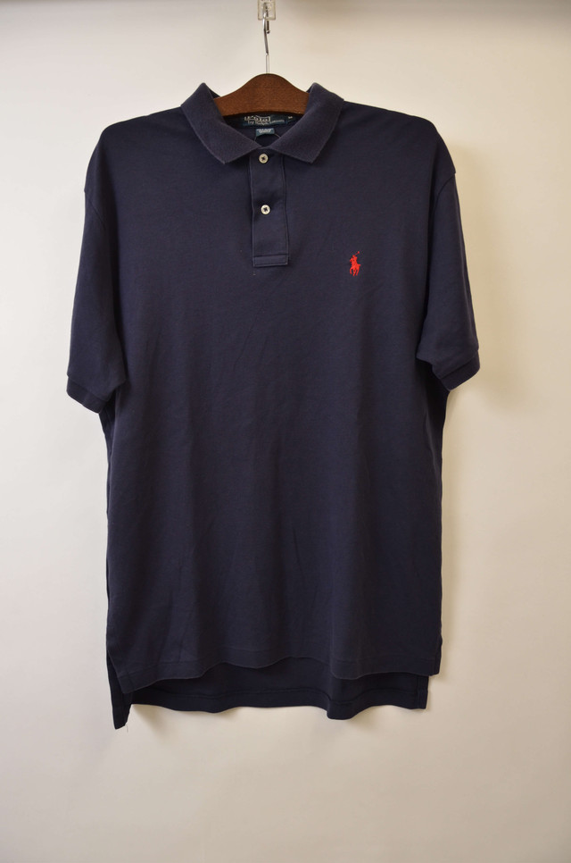 【Mサイズ】 POLO RALPH LAUREN ポロ ラルフローレン ONE POINT PONY POLO ポロシャツ NAVY/RED M 400603190703
