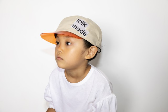 【21SS】folkmade(フォークメイド) lalique cap キャップ white beige