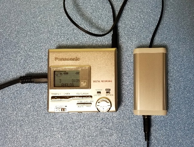 MDポータブルプレーヤー Panasonic SJ-MJ50 MDLP 完動品