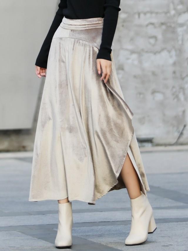 デザインベロアスカート