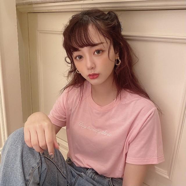 【original】Day23 logo T-shirt(pink)