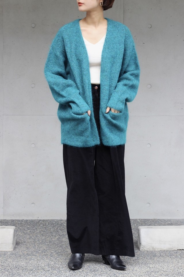【SAYAKADAVIS】cocoon cardigan-sea green