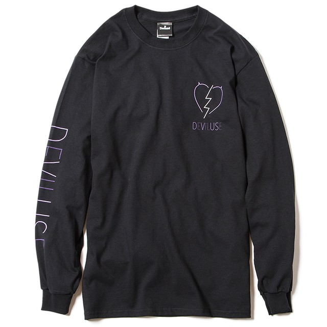 【Deviluse | デビルユース】Neon L/S T-shirts(Black)