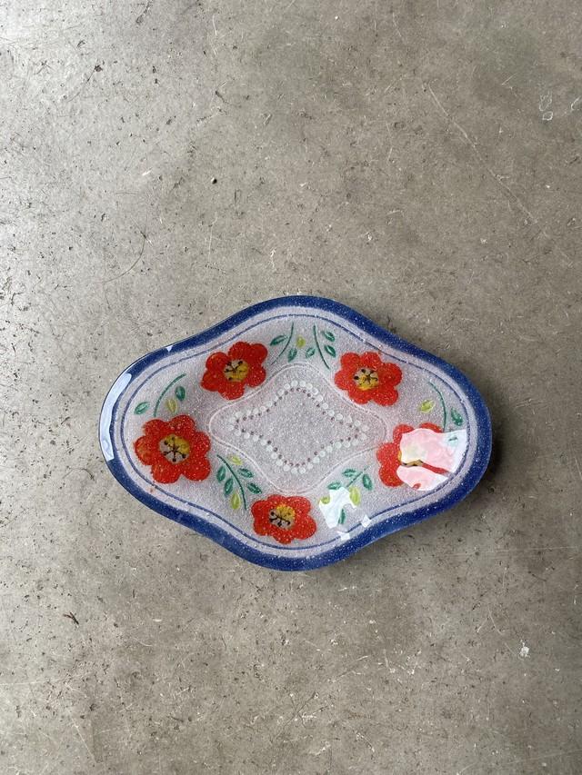 竹中悠記 花菱皿(中)