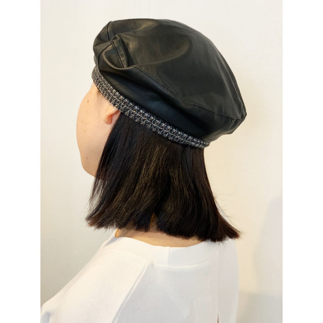 ZURI ・ツイードアクセントベレー帽(0W48044H)