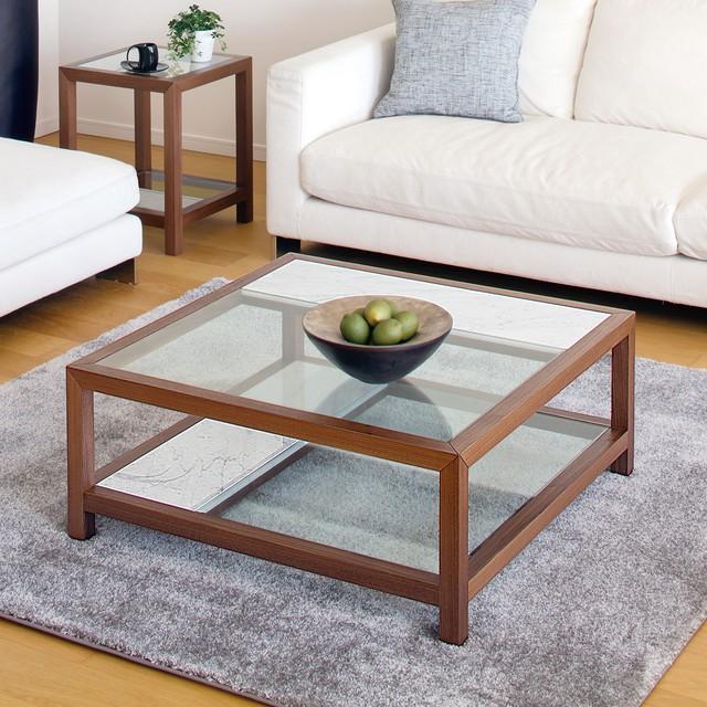 コーヒーテーブル・リビングテーブル|天然大理石天板 ガラス天板| SO-112