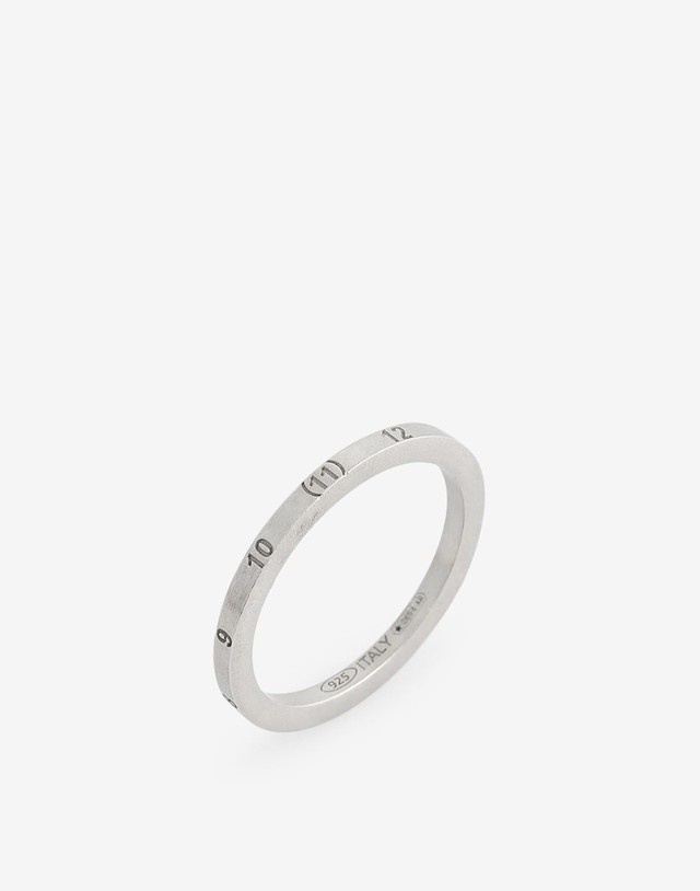 Maison Margiela Numbers slim ring silver