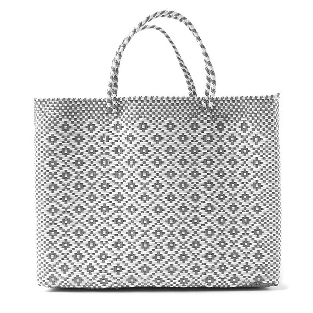 MERCADO BAG ROMBO - White x Silver(L)
